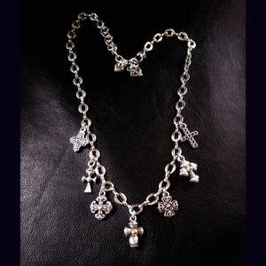 Brighton Multi Cross charms necklace